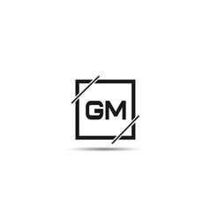 initial letter gm logo template design vector image