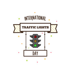 international traffic lights day vector image