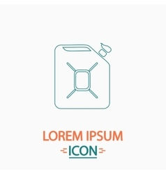 Jerrycan oil computer symbol vector image
