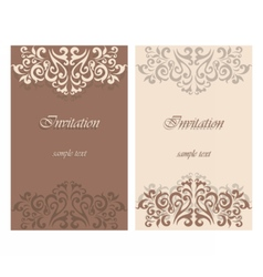 Lace ornament Invitation card vector image
