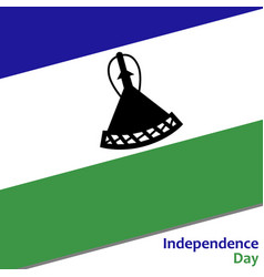 lesotho independence day vector image
