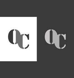 letter oc logo vector image