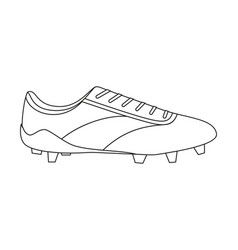 line art black and white soccer boots vector image