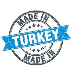 made in Turkey blue round vintage stamp vector image