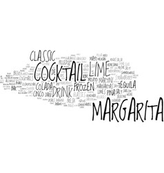 Margarita word cloud concept vector