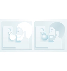 men and apple vector image