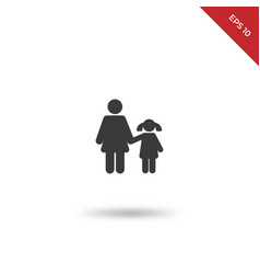 mother daughter icon vector image