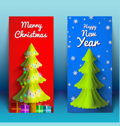new year and christmas vertical banners vector image