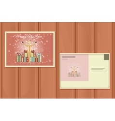 New Year Postcard Holiday background vector image
