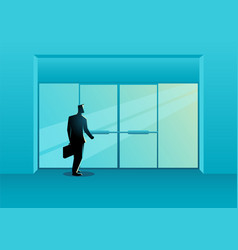 office entrance vector image