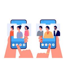 online dating app love sites phone relationship vector image