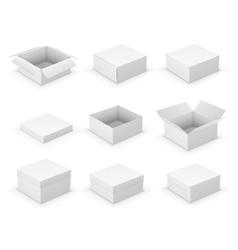 Open boxes vector