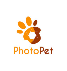 pet photography logo icon symbols and app icon vector image