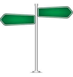 pole sign road blank isolated vector image