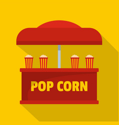 Pop corn selling icon flat style vector