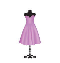 Purple elegant dress on mannequin vector