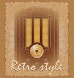 Retro style poster old radio vector