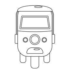 Rickshaw icon outline style vector