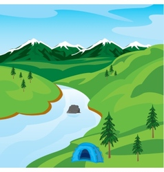 River in mountain vector