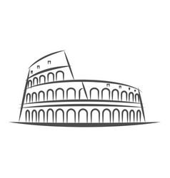 Rome city line style colosseum vector