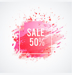 sale-pink-spot vector image
