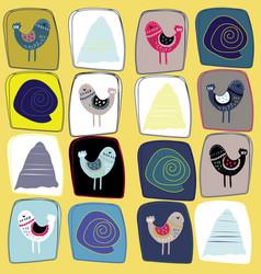 scandinavian folk art pattern design vector image