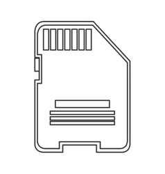 Sd card icon vector