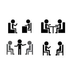 Set consulting icons vector