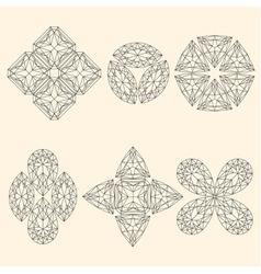 Set of geometrical emblems vector