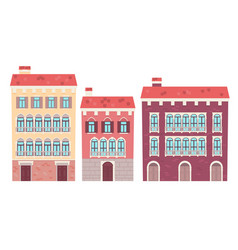 Set of houses venice vector