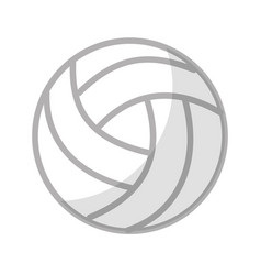 shadow volley ball cartoon vector image