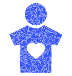 Shards mosaic boyfriend icon vector
