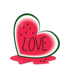 Slice of watermelon vector