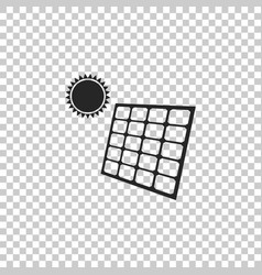 solar energy panel icon on transparent background vector image