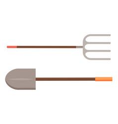 spade and hayfork village metal equipment vector image