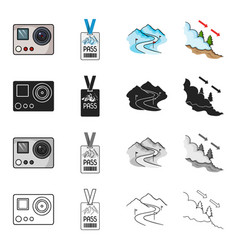 Sports recreation tourism and other web icon in vector