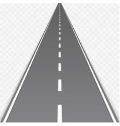 Straight road with markings vector