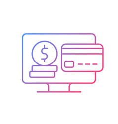 Subscription fee gradient linear icon vector