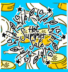 summer frame text template background vector image