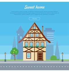 Sweet Home House Banner Poster Template vector