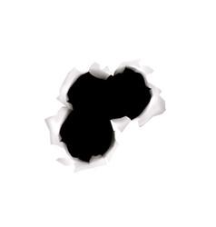 Three bullets hole composition vector