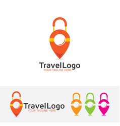 travel map logo vector image