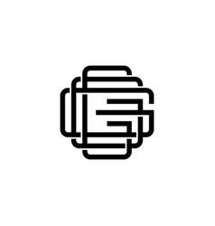 triple g monogram ggg letter hipster lettermark vector image