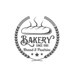 Vintage retro bakery logo badge or label vector