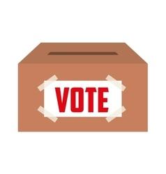 Vote box isolated icon design vector