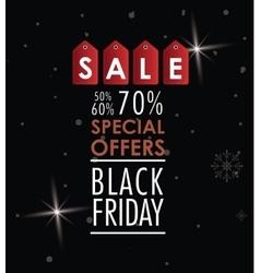 Black friday label sale design vector image