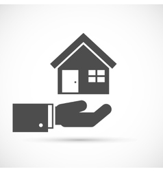 Holding house on hand vector image