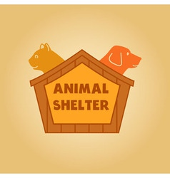 icon logo for an animal shelter Dog and a cat in a vector image vector image
