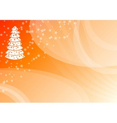 orange christmas vector image vector image