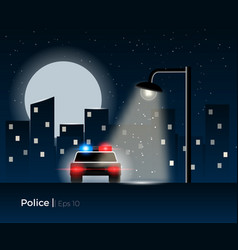 police car concept vector image vector image